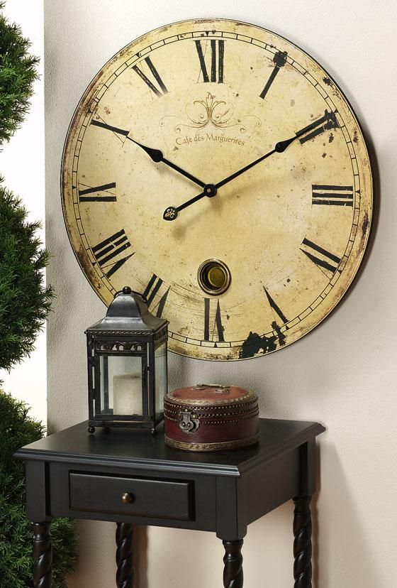 extra large wall clock roses and rust about time new looks 11674