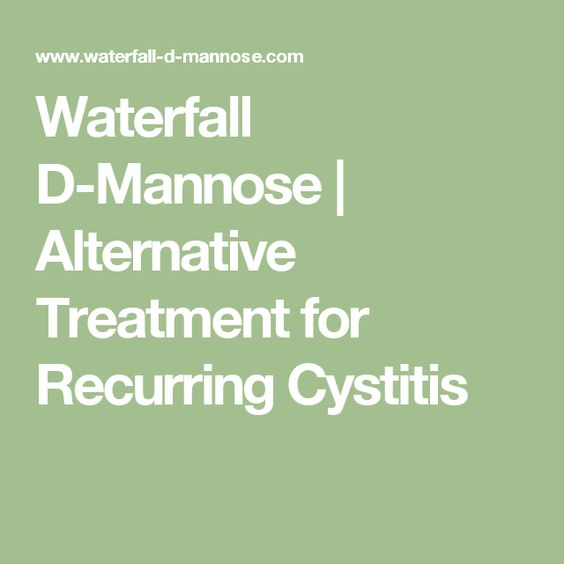 Waterfall D-Mannose | Alternative Treatment for Recurring Cystitis