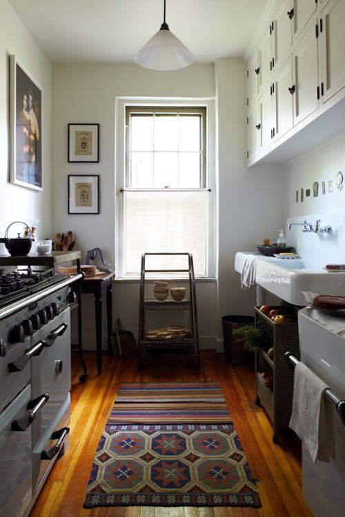 Beautiful narrow kitchen home kitchen style for Narrow kitchen ideas home