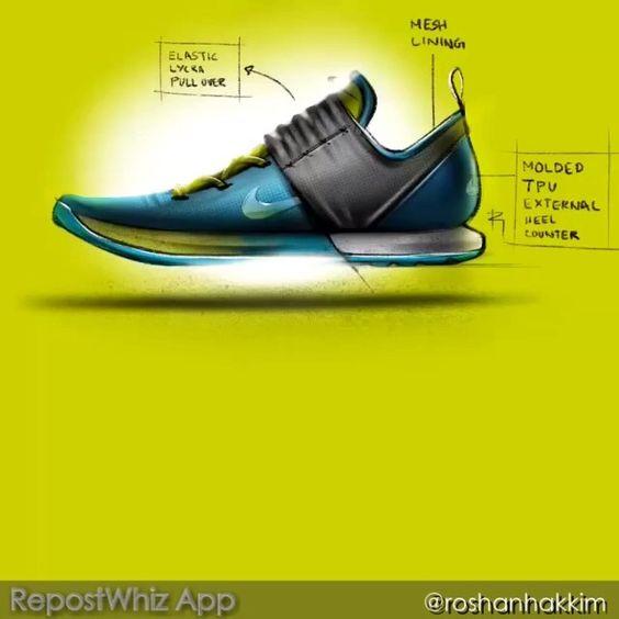 """REPOST FROM @roshanhakkim: """"iPad timelapsee sketch video coming soon. #Roshan #hakkim #sketch #bug #sketchbug #design #idsketching #shoe #footwear #nike #adidas #doodles #paper #analog"""""""