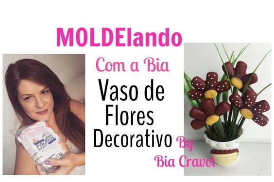 MOLDElando com a Bia - Vaso Decorativo para Lavabo de biscuit - By Bia C...