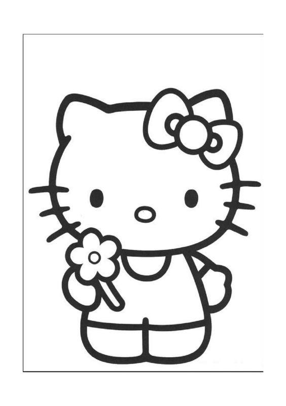 Ausmalbilder Hello Kitty 4 | Printables | Pinterest | Hallo Kitty ...
