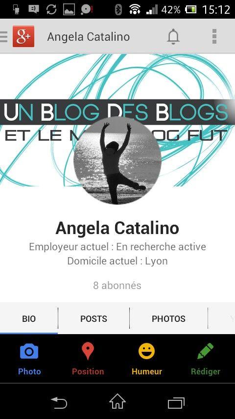J'ai un compte sur Google+