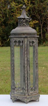 Large Grey Lantern (1 available) #Wedding #Rental #WeddingRental #Vintage #Photography #Photoshoot #Houston #Spring #Tomball #Woodlands #Katy #Texas #SomethingGoodeVintageRentals #SomethingGoode