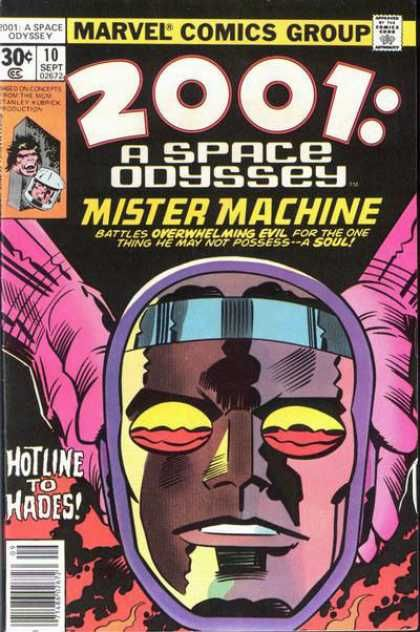 2001 A Space Odyssey 10 Jack the King Kirby Mister Machine X-51 later to be named Machine Man. Bronze Age Marvel Comics Group