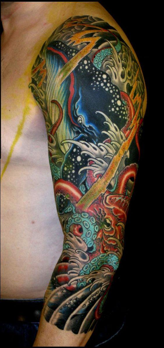 Incredible Sleeve Tattoo: Just Incredible... Sea Life Tattoo