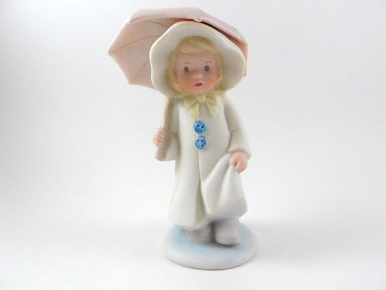 Vintage Figurine Bisque Porcelain Collectible by theoldtimers