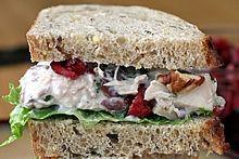 Chicken or Turkey Salad with Cranberries & Pecans: