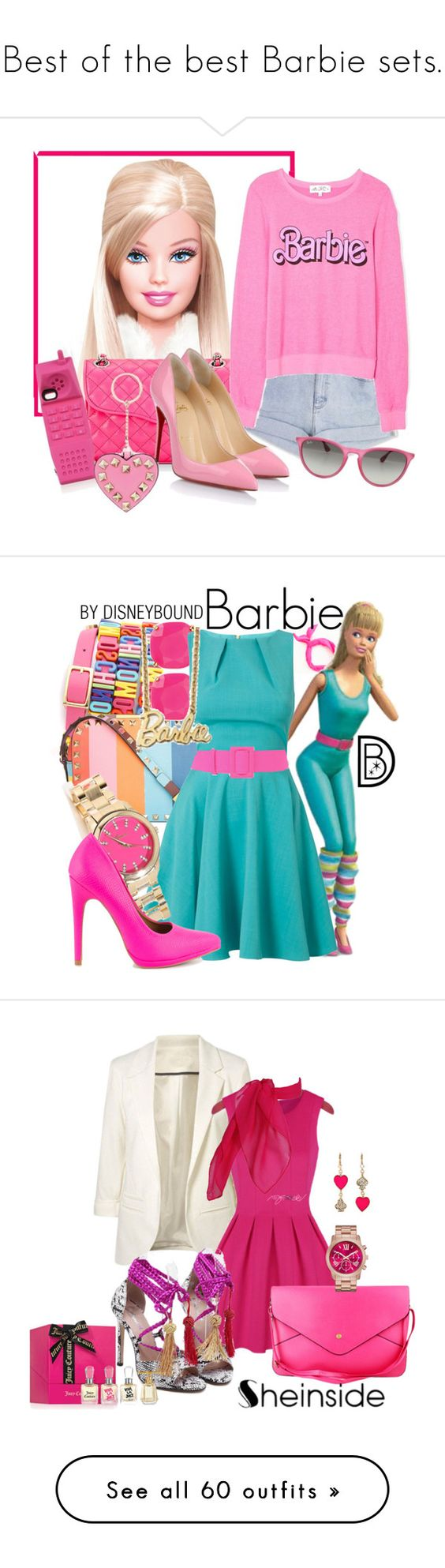"""""""Best of the best Barbie sets."""" by crazygirlandproud ❤ liked on Polyvore featuring Les Petites..., Rebecca Minkoff, Wildfox, Christian Louboutin, Moschino, Valentino, Ray-Ban, ban.do, Kate Spade and Closet"""