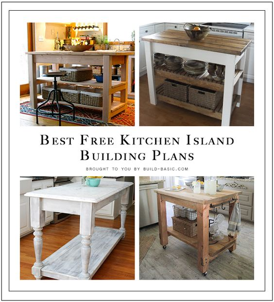 Kitchen Island Planning Basics: Click, Drool, And SAVE These Amazingly FREE Building Plans