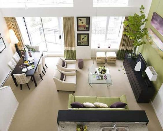 Easy small living dining room combo decorating ideas - Small living and dining room design ...