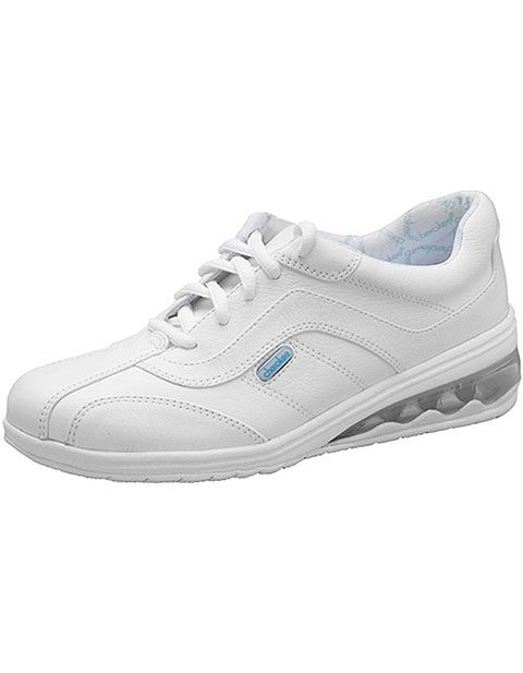 white leather medical shoes