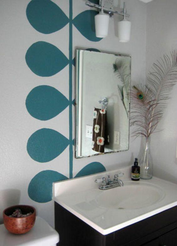 wände streichen ideen fürs badezimmer - 62 kreative Wände ...