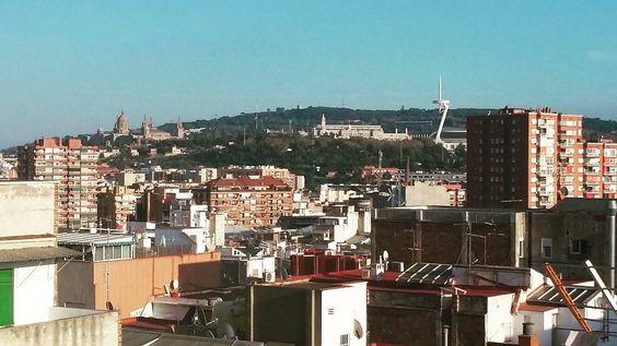 #soleado #Barcelona #montjuic #sky #city #buildings #bluesky #autumn