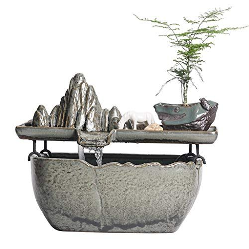 Indoor Fountains Tabletop Fountains Chinese Ceramic Indoor Water