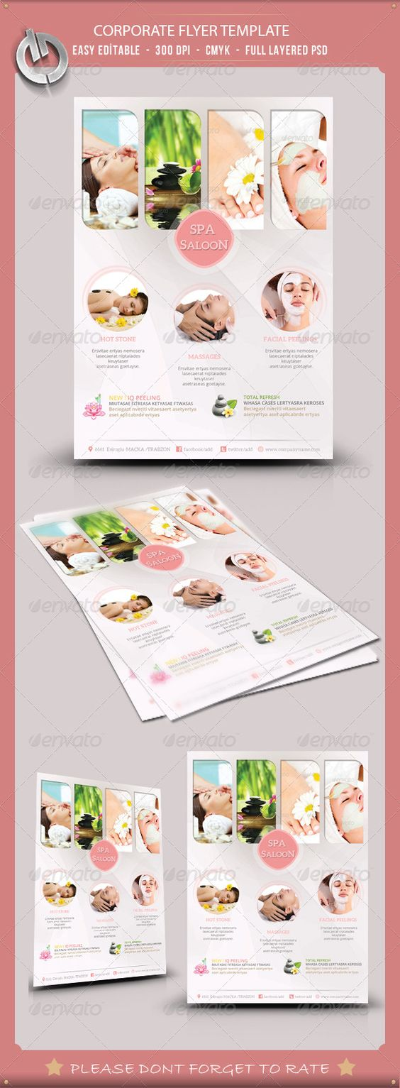 beauty spa flyer template flyer template beauty spa and beauty beauty spa flyer template