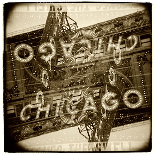 """Chicago Theatre"" H1464 (In-camera Double Exposure)"