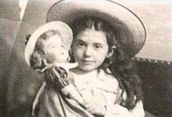 Seven-year-old Eva Hart survived Titanic along with her mother. She became one of the most recognizable figures associated with the disaster, appearing in several forms of media.