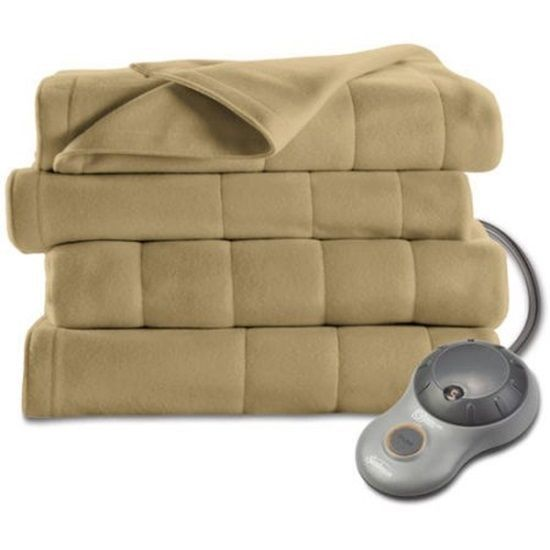 Sunbeam Electric Heated Fleece Blanket Twin Size Acorn Single