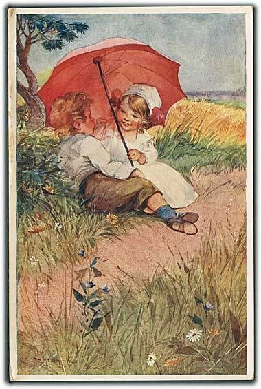 """Under the Umbrella"" (1930') from cornucopia on Ruby Lane"