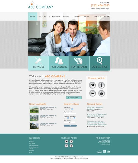 Modern Property Management Website Templates Gallery - Resume Ideas - property management websites templates