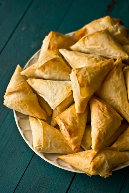 dishes in Saigon vegetarian restaurants: butternut squash samosas