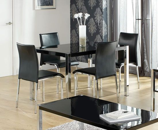 45++ Black glass top dining table and chairs Trending