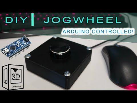 How To Build A Jogwheel Diy Arduino Youtube Arduino Arduino Controller Diy