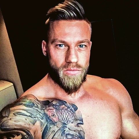 Handsome Man Bearded Tattooed Men Blonde Guys Bearded Men