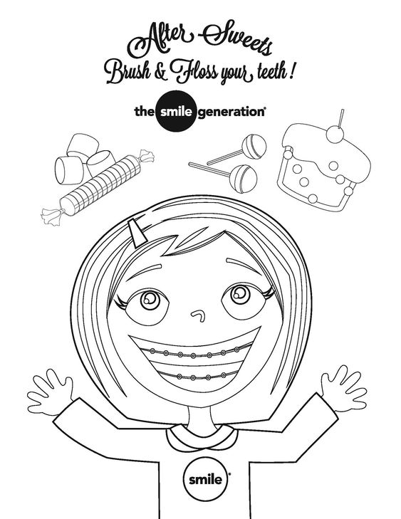 children teeth coloring pages - photo#5
