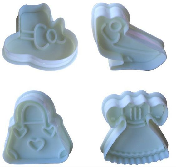 Fashionista Plastic Spring Cookie Cutters (4 Pieces)