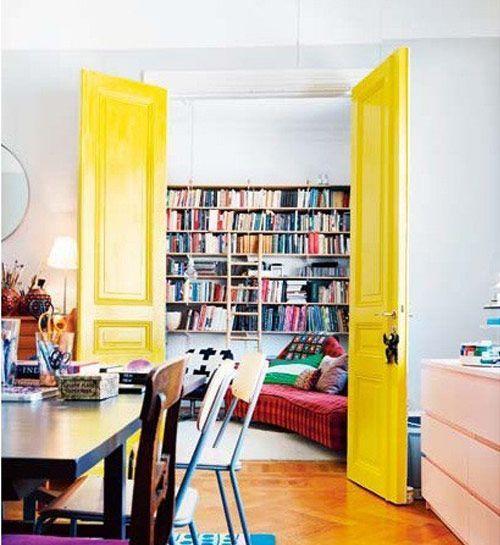 yellow doors...love it!