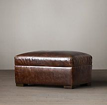 39.  Living room ottoman The Petite Maxwell Leather Ottoman