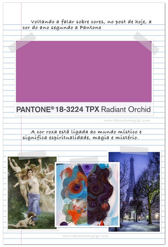 PANTONE - 18-3224, a cor do ano!