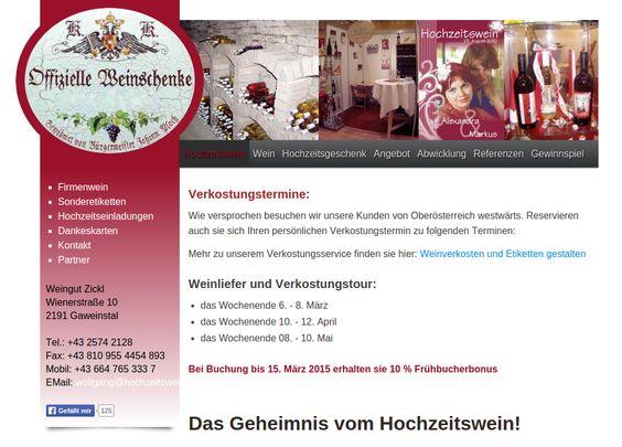 http://www.hochzeitswein.info Ihr Wein für Hochzet und anderen Anlässen