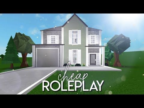 Roblox Bloxburg Houses Denise Bloxburg Cheap Roleplay Home 28k Youtube In 2020 House Blueprints House Layouts Home Building Design