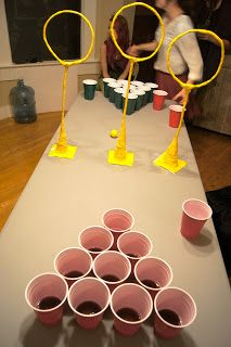 Quidditch pong! (with soda instead of beer)