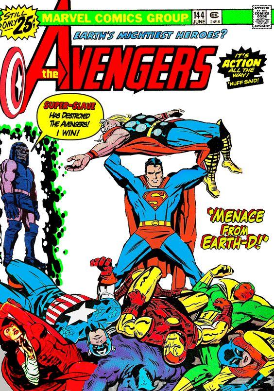 Superman Man Of Steel Avengers Darkseid DC Marvel Comics