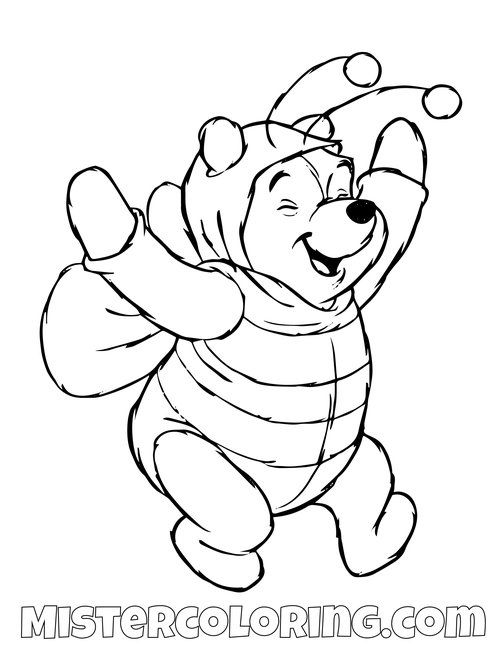 Winnie The Pooh Coloring Pages For Kids Mister Coloring Halloween Coloring Halloween Coloring Pages Halloween Coloring Book