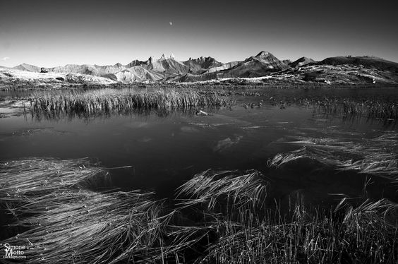 Moon on Lac Guichard by Simone Miotto, via 500px