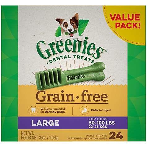 Greenies Grain Free Large Natural Oral Health Dog Dental Care Chews 36 Oz Count Of 24 Petco Dog Dental Chews Dental Treats Greenies
