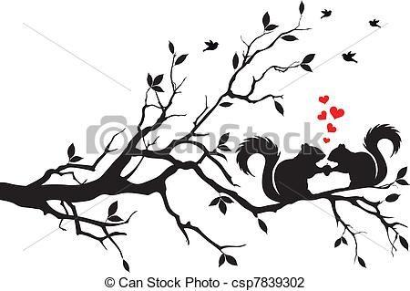 Wektor - wiewiórki, drzewo - zbiory ilustracji, ilustracje royalty free, zbiory ikon klipart, zbiór ikon klipart, logo, sztuka, obrazy EPS, obrazki, grafika, grafik, rysunki, rysunek, obrazy wektorowe, projekt graficzny, EPS wektor graficzny