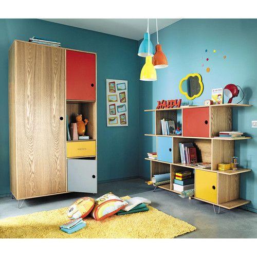 Biblioth que enfant multicolore et dressing happy tapis - Tapis enfant maison du monde ...
