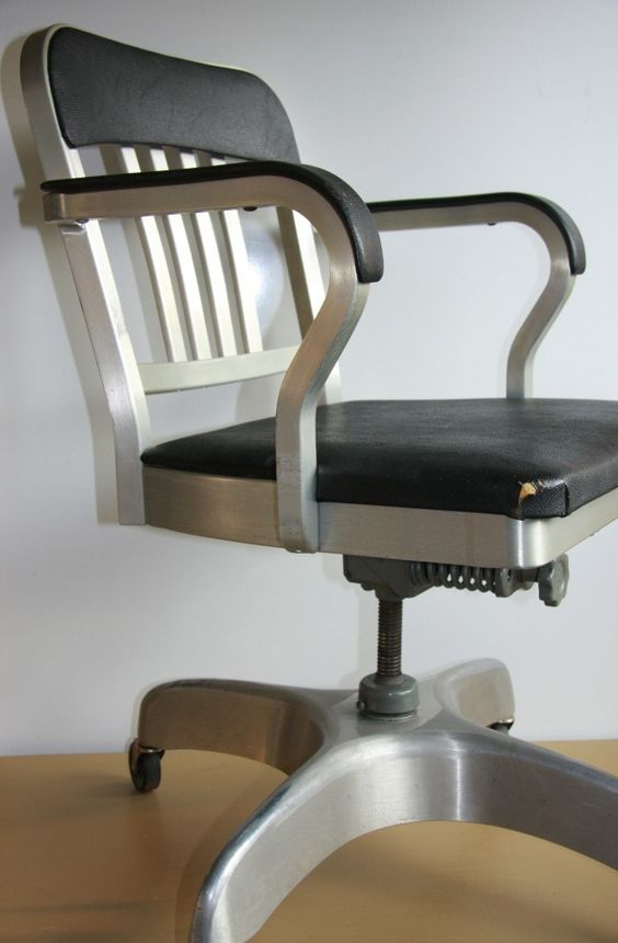 1965 industrial emeco navy mid century goodform brushed aluminum office chair bedroommarvellous office chairs bones furniture company