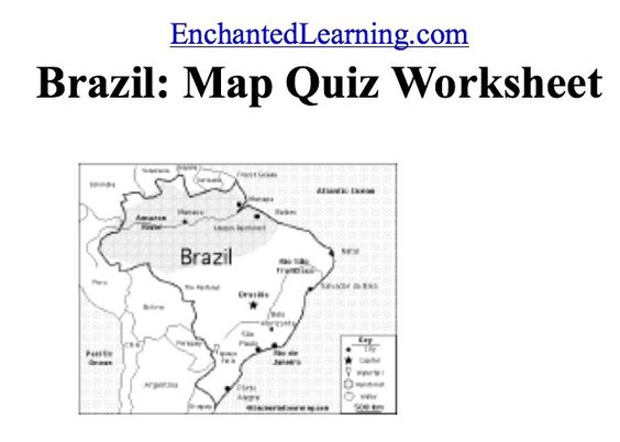Brazil, Maps and Quizes on Pinterest