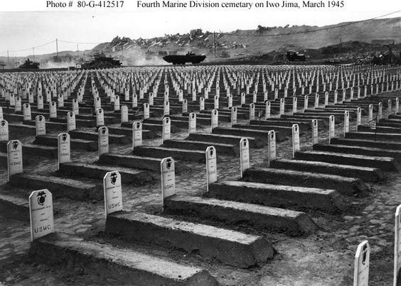 Image result for 4th marine division cemetery iwo jima