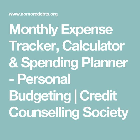 Monthly Expense Tracker Calculator  Spending Planner  Personal