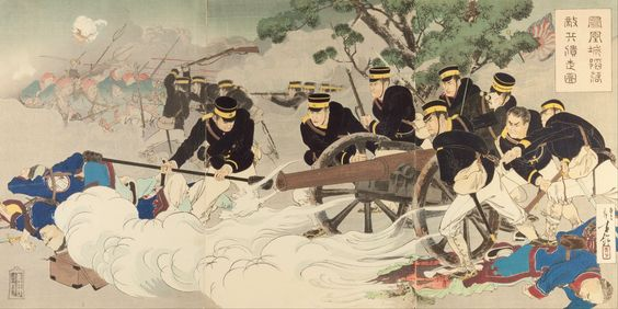 Mizuno_Toshikata_-_The_Fall_of_Fenghuangcheng-_Putting_the_Enemy_to_Rout_-_Google_Art_Project.jpg (5359×2689)