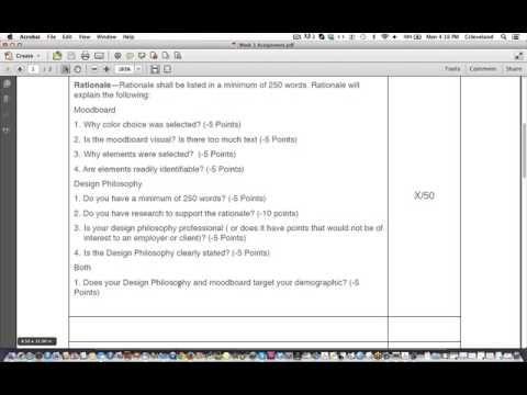 Design Philosphy Moodboard Rubric Youtube Mood Boards Rubrics Design