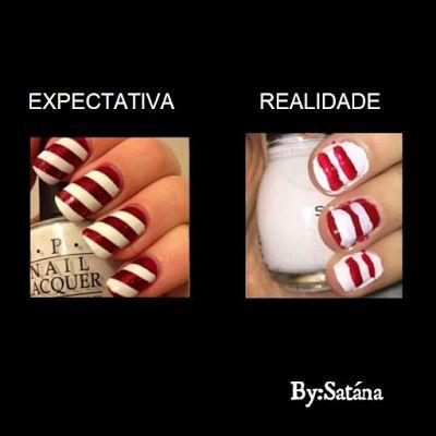 Imagem e Frases Facebook: Expectativas da manicure